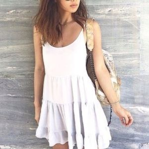 Brandy Melville Jada Swing Babydoll Dress White